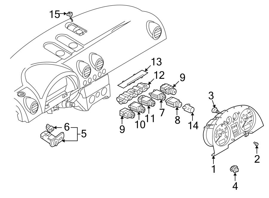 2001 Audi Tt Vehicle Speed Sensor  Trans  Manual